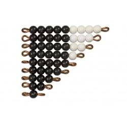 Black and white bead stairs - individual beads nylon: 1 set