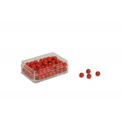 Red beads: