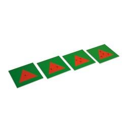 Метални триъгълници (4 бр)
